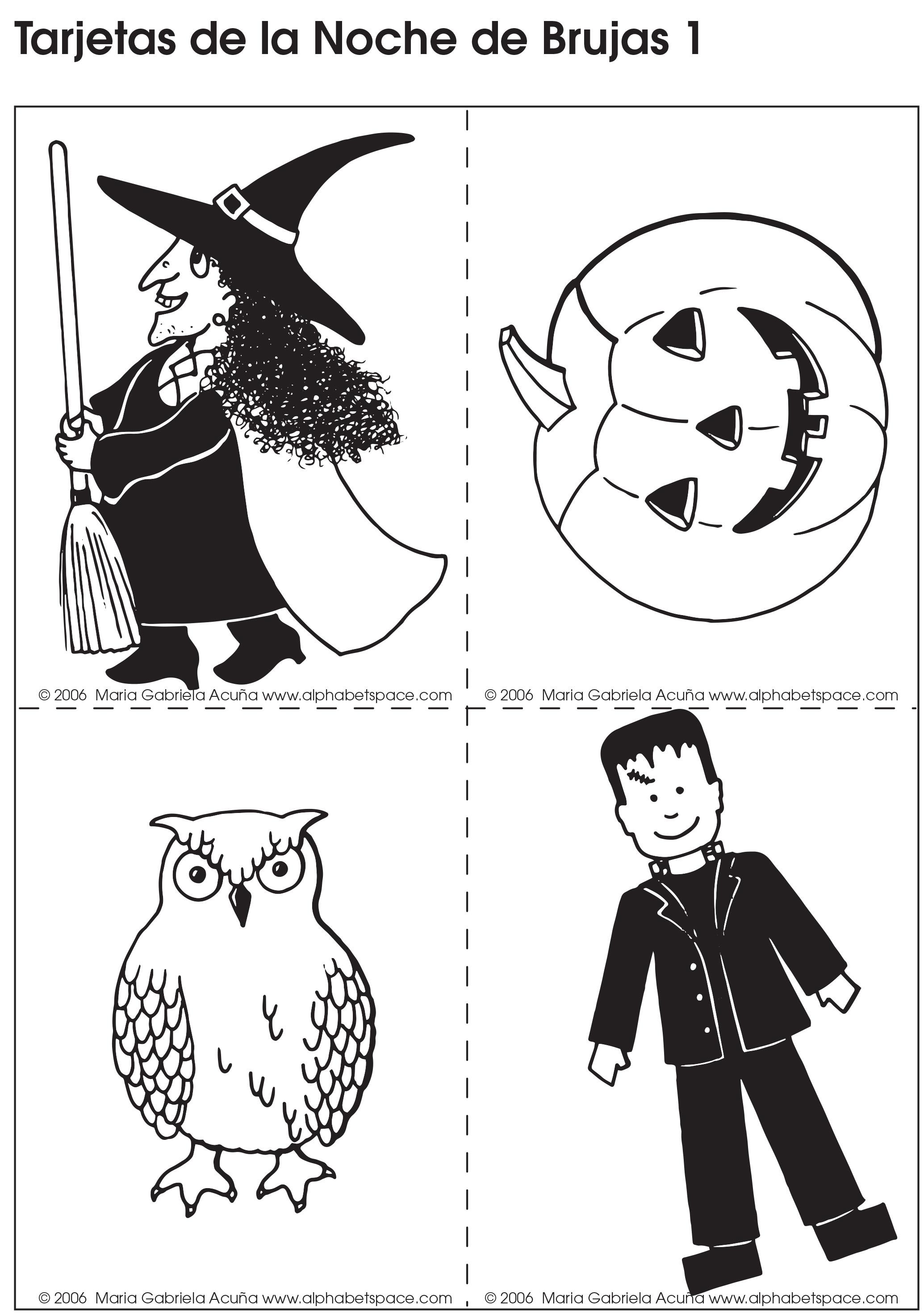 Tarjetas Halloween 1