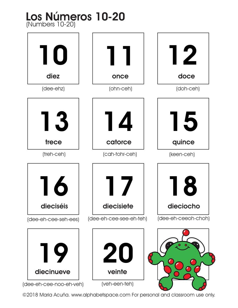 Los números 10-20. Maria Acuna 2018 www.alphabetspace.com.jpg