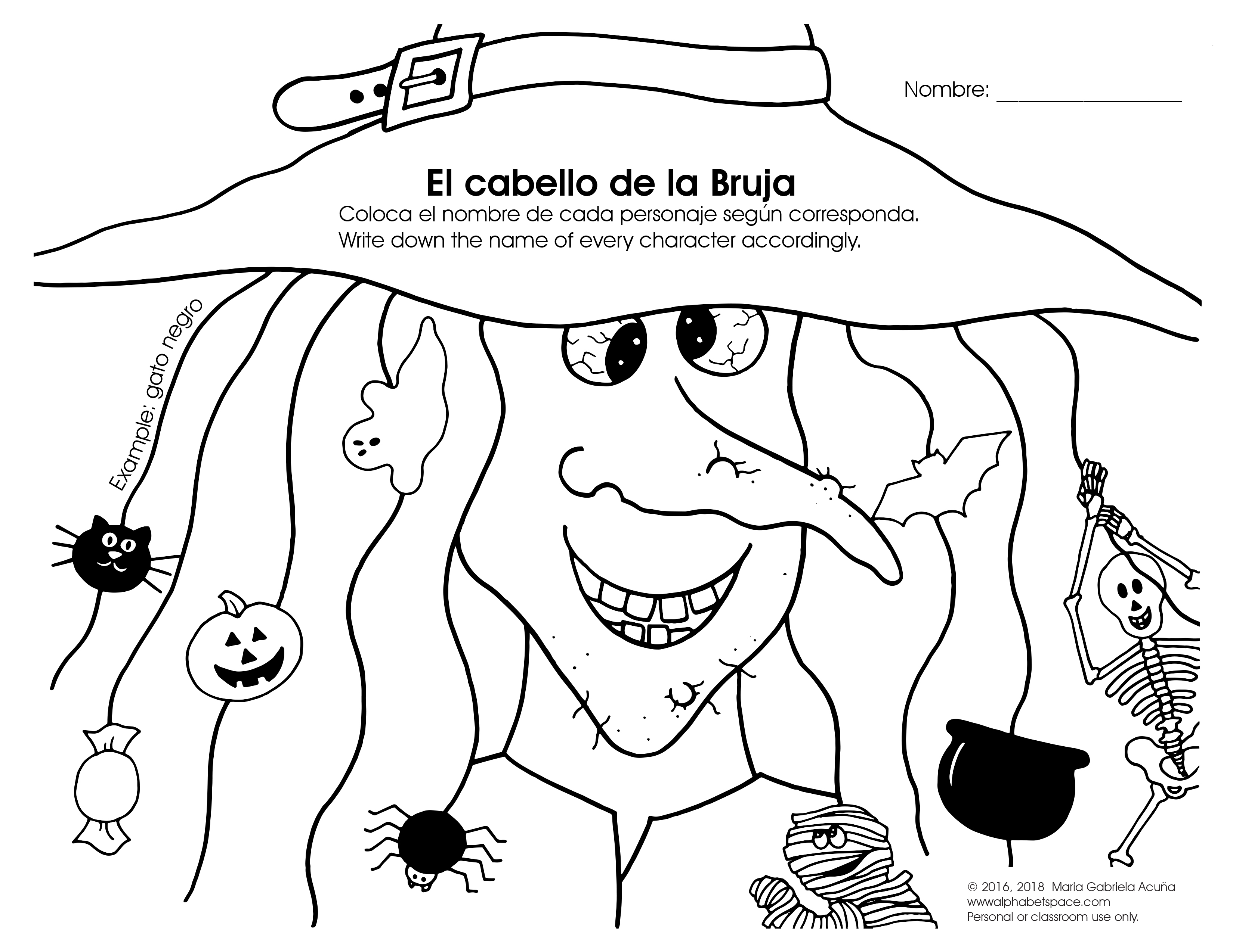EL Cabello de la Bruja Worksheet.jpg